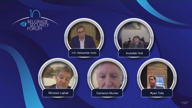 BSF: Vučić, Hoti, Lajčak, Manter i Tuli  Foto: Tanjug/video