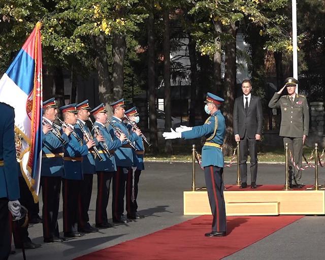 Ministar odbrane Nebojša Stefanović posetio je Generalštab Vojske Srbije Foto: Tanjug/video
