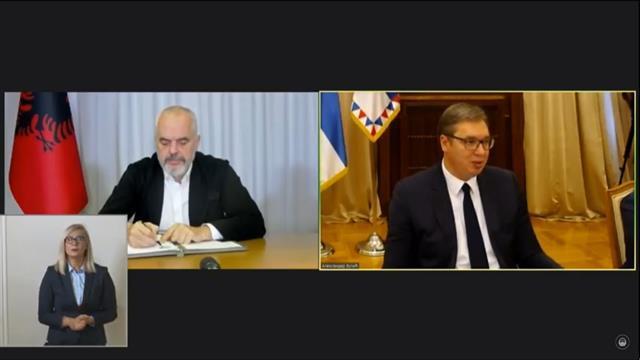 Potpisivanje sporazuma između Albanije, Severne Makedonije i Srbije Foto: Tanjug/video