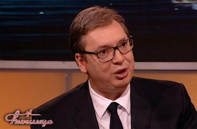 Predsednik Srbije Aleksandar Vučić na TV Hepi Foto: TV Hepi/prinskrin
