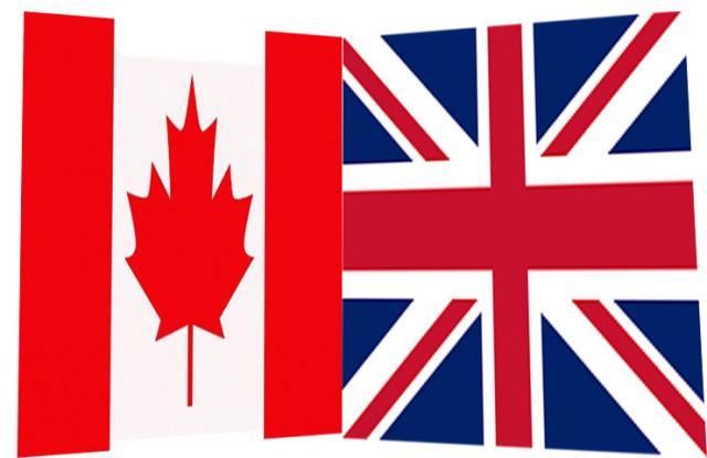 Канада, Велика Британија, заставе  Фото: Дневник.рс/илустрација