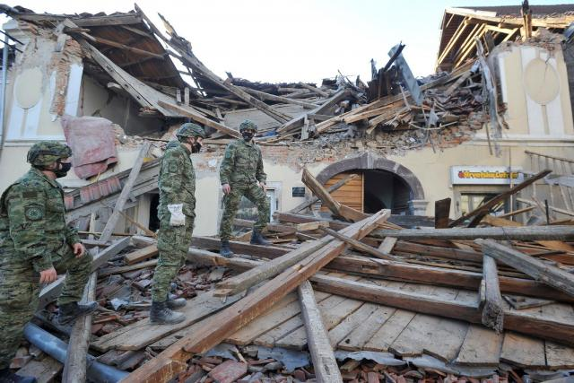 Zemljotres u Petrinji Foto: FoNet