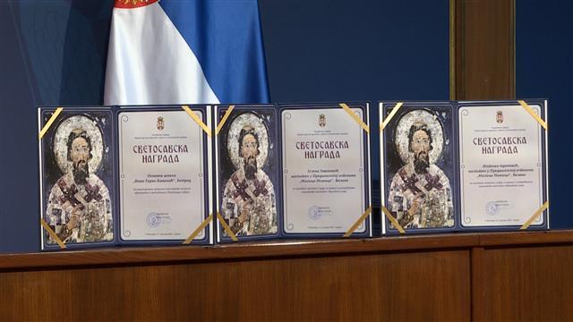 Svetosavske nagrade Foto: Tanjug/video
