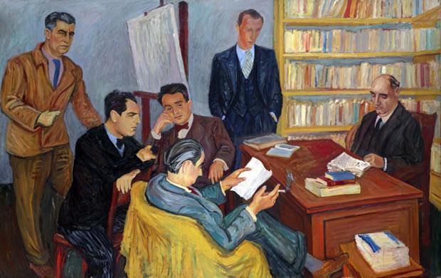 """Петар Добровић, Редакција часописа """"Данас"""", 1934."""