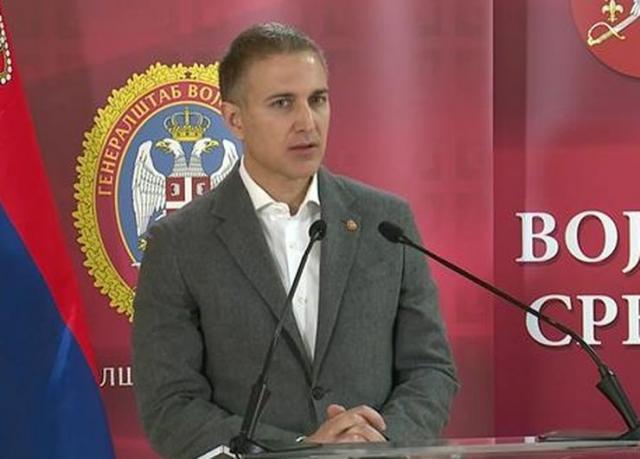 Ministar odbrane Nebojša Stefanović, Foto: Tanjug/video