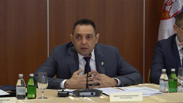 Ministar unutrašnjih poslova Aleksandar Vulin Foto:Tanjug/video