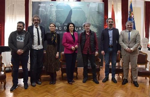 """Sa predstavljanja početka snimanja domaćeg filma """"Trag divljači"""" u Nišu Foto: Tanjug/video"""