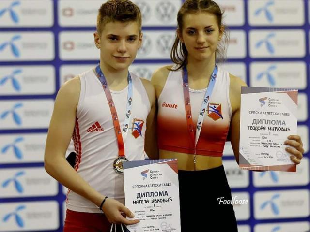 М. Игњатовић/ Матеја Ивковић и Теодора Мићовић најбржи на 60 метара