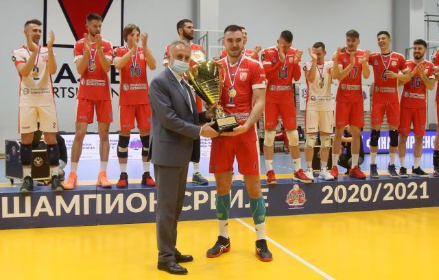 Zoran Gajic i odbojkasi Vojvodine