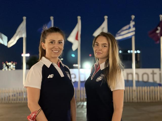 Andrea Arsović i Sanja Vukašinović u Olimpijskom selu