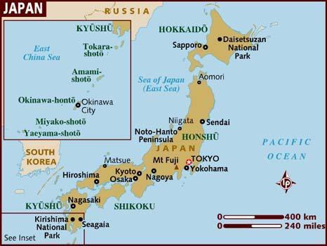 Mapa Japana Foto: Youtube/printskrin
